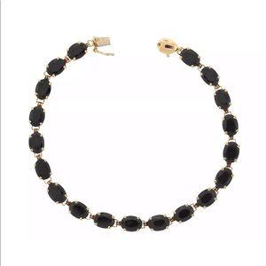 Jewelry - 14k yellow Gold Blue Sapphire Tennis Bracelet